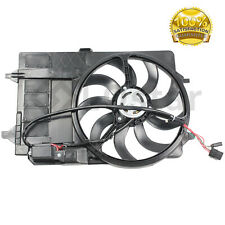 NEW Dual Radiator Condenser Fan Assembly TYC 621080 Fits Mini Cooper With Relay