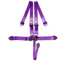 STR 5-Point SFI Harness Nascar Latch Seat Belt F1 F2 Aluminium Adjuster - Purple