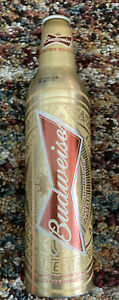 Limited Edition Budweiser Gold Beer Bottle World Cup 2014 FIFA Official - RARE