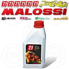 1 LITRO OLIO MALOSSI 7.1 2T RACING 100% SINTETICO MISCELA SCOOTER MOTORE 2 TEMPI