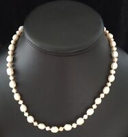 Vintage White & Light Pink Pearl Necklace