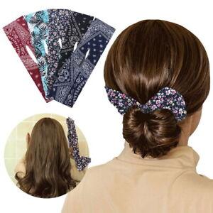 Women Lazy Hair Curler Magic Clip Wire Bow Hairpin Hair Accessories