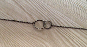 """Silpada N2297 Sterling Silver Sweet Circles Pendant Textured 16"""" Delicate"""