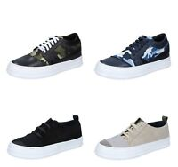 FDF SHOES scarpe uomo sneakers  pelle tessuto blu e verde camoscio nero e beige