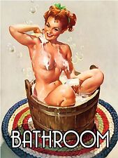 Bathroom Gift Retro Vintage Aluminium Sign wall