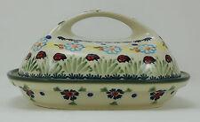 Bunzlauer Keramik Butterdose Dekor, für 250g Butter, Marienkäfer, (M077-IF45)