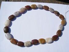 New listing 63.4 gram Henry Mountain Petrified Wood 18x13mm flat oval beads 16 inch strand