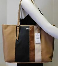 "Nine West Color Block Multi Color Large Shoulder Bag Handbag Tote Purse ""NWT"""