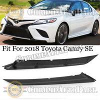 Bumper Upper Trim Molding For 2018 Toyota Camry SE Front Driver & Passenger Side