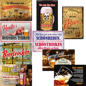 Blechschilder lustige Sprüche Schild 20x30cm Deko Geschenk Bier Männer Hobby Bar