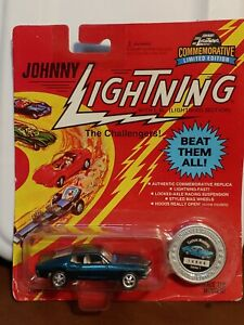 Playing Mantis Johnny Lightning Blue  Custom Mustang New in Package 1995