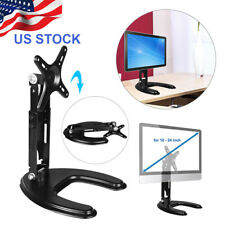 """Single LCD Computer Monitor Desk Stand Adjustable Tilt / fits 1 Screen up to 24"""""""