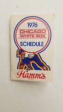 VERY RARE 1976 Chicago White Sox Hamm's Beer Pocket Schedule & Iron On