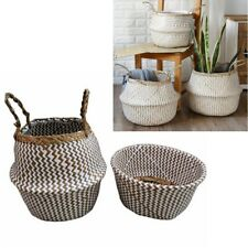 Foldable Seagrass Belly Basket For Fiddle Leaf Home Decor Plant Pot Cover Holder
