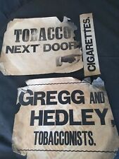 Collection of Original 1901 letterpress posters for tobacconist Gregg & hedley