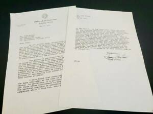 Jimmy Carter Signed 2 Page Letter As GOVERNOR of Georgia May 4, 1971 Re: Voting
