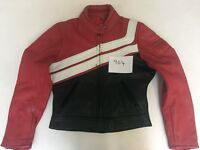 """iXS-Mode Motorcycle Jacket Real Leather Red/Black 40 Armpit 20"""" Lgth 20"""" (904)"""