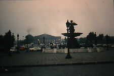 Kodachrome 35mm Slide France Paris Street Scene Old Cars Taxis Statues 1970!