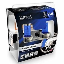 Lunex H4 Halógeno Xenon Faro máximo de plasma efecto XENÓN Coche Bombillas 5000K Twin