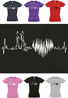HORSE HEARTBEAT Horse / Pony Lovers T-shirt!, Ladies Cut, sizes 8 to 16