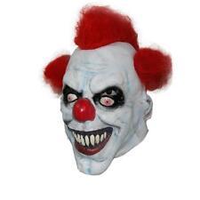 Scary Clown Mask Adult Latex Red Hair Halloween Evil Killer Horror Fancy Dress