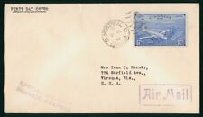 MayfairStamps Cover 1946 Special Delivery 17 Cents Air Mail Canada FDC 1946 Firs