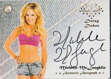 Michelle McLaughlin 2015 Bench Warmers Daizy Dukez autograph auto card