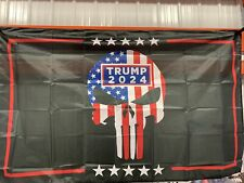 President Donald Trump 2024 The Punisher 3' X 5' Flag Banner Same Day Shipping