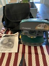 Vintage POLAROID One Step Express 600 Instant Film Camera w/ Flash Green - CASE!