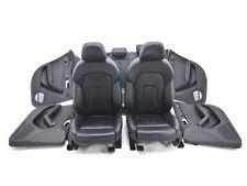 Audi A4 8K S-Line Lederausstattung Ledersitze Sitze Leder  schwarz Nappa