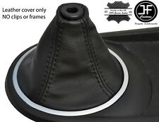 BLACK STITCH FITS HYUNDAI TIBURON COUPE 2002-2008 GEAR GAITER REAL LEATHER