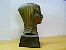 JUDAICA JEWISH  BRASS YEMENITE GIRL BY PAL BELL EARLY ISRAEL