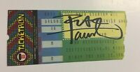 Pete Townshend Signed Who Concert Ticket Shea stadium 1982