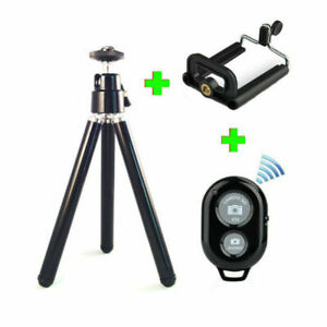 Bluetooth Camera Mobile Phone Portable Extendable Mini TriPod Stand for Picture