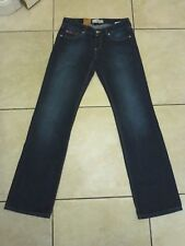 "Lee Cooper Plunging Front Guru Narrow Leg Bootcut Jeans Size 16 L33"" Blue"