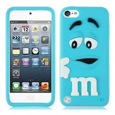 Blue 3D mm Candy Soft Silicone Case Cover For Apple iPod Touch 7th Gen 6th Gen