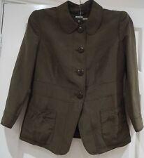 ARMANI COLLEZIONI Brown Linen Silk Collared Blazer Jacket & Shorts Suit IT40/44