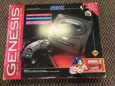 Sega Genesis Model 2 Console System in Box With Sonic 2 tested/working Good cond