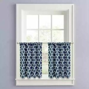 Colordrift Morocco 24-Inch Window Tier Pair in Navy