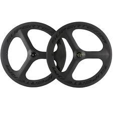 Superteam Carbon Wheels Race Bike 70mm 3 Spoke Wheelset Road Bike Wheel Clincher