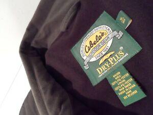 Cabela's Men's Dry-Plus Jacket Sz XL Forest Green Burly Cargo Pocket Coat 941268