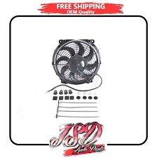 "12"" Inch Universal Slim Fan Radiator Cooling Push Pull and Mounting Kit 6380"
