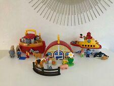 ♥ Lot Playmobil 123 L'arche De Noé 6765 Maison Écurie 6778 Bateau Navire 6957