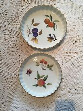"""ROYAL WORCESTER EVESHAM PIE DISH X2 Size 7.75"""" And 8.75"""" Lot"""