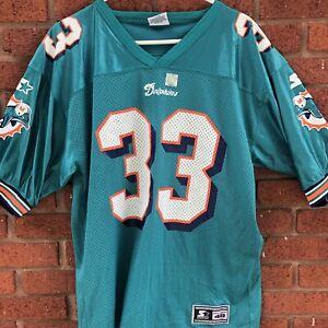"NEW 1998 NFL MIAMI DOLPHINS #33 ABDUL Karim Jabbar Jersey SHIRT L 46"" RARE VTG"