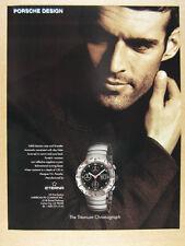 1998 Porsche Design Titanium Chronograph watch photo vintage print Ad