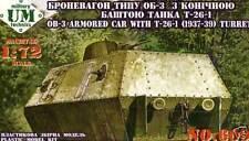 Per guide ob-3 carrello con t-26 - Torre incl. ätzt fretta modello 1:72 - KIT KIT NUOVO