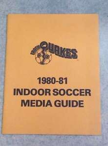 SAN JOSE EARTHQUAKES NASL INDOOR SOCCER MEDIA GUIDE - 1980 1981 - TOUGH TO FIND