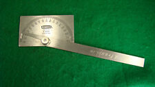 Craftsman Usa no. 9 4029 Stainless Steel Protractor w/ Rectangular Head