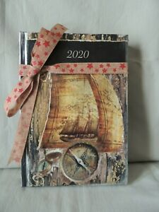 Greek notebook- calendar 2020 with decoupage on the cover
